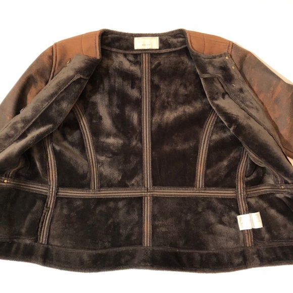 Nolley's Jackets & Coats - Nolley's Week End faux fake leather suede jacket